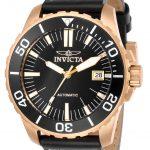 Invicta Pro Diver Mens Automatic 45mm Rose Gold Case Black Dial – Model 25642