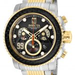 Invicta Jason Taylor Mens Hall Of Fame Limited Edition Quartz 48mm Stainless Steel, Gold Case Gunmetal Dial – Model 25677