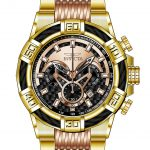 Invicta Bolt Mens Quartz 52mm Gold Case Black Dial – Model 25765