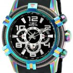 Invicta Bolt Mens Quartz 51mm Rainbow Case Black Dial – Model 25769
