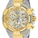 Invicta Bolt Mens Quartz 51mm Stainless Steel Case Gold Dial – Model 25864
