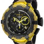 Invicta Bolt Thunderbolt Mens Quartz 54.5mm Yellow, Black Case Black Dial – Model 25908