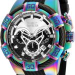 Invicta Bolt Mens Quartz 52mm Rainbow Case Black Dial – Model 26320
