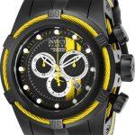Invicta Bolt Zeus Race Team Mens Quartz 53mm Black, Yellow Case Black, Yellow, Silver Dial – Model 26472