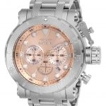 Invicta Coalition Forces Mens Quartz 52mm Stainless Steel Case Rose Gold Dial – Model 26496