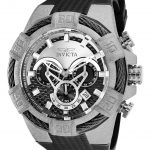 Invicta Bolt Mens Quartz 52mm Stainless Steel Case Black Dial – Model 26526