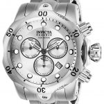 Invicta Reserve Mens Quartz 53.7mm Stainless Steel Case Silver Dial – Model 26577