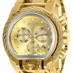 Invicta Reserve Mens Quartz 52mm Gold, Stainless Steel Case Gold Dial – Model 26586