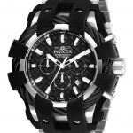 Invicta Bolt Mens Quartz 50mm Stainless Steel, Black Case Black Dial – Model 26669