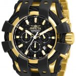 Invicta Bolt Mens Quartz 50mm Gold, Black Case Black Dial – Model 26674