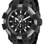 Invicta Bolt Mens Quartz 50mm Black, Stainless Steel Case Black Dial – Model 26675