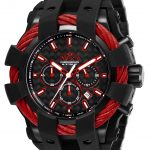 Invicta Bolt Mens Quartz 50mm Black, Red Case Black Dial – Model 26677