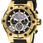 Invicta Bolt Mens Quartz 51.5mm Gold Case Black Dial – Model 26815
