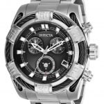 Invicta Bolt Mens Quartz 51 mm Stainless Steel Case Black Dial – Model 26989