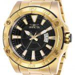 Invicta Pro Diver Mens Automatic 52 mm Gold Case Black Dial – Model 27012