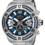 Invicta Bolt Mens Quartz 53mm Stainless Steel Case Blue Dial – Model 27264