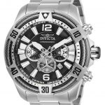 Invicta Bolt Mens Quartz 53mm Stainless Steel Case Black Dial – Model 27265