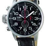Invicta I-Force Quartz Watch – Stainless Steel case with Black tone Leather band – Model 2770