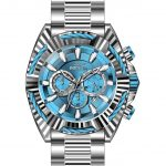 Invicta Bolt Mens Quartz 50 mm Stainless Steel Case Blue, Silver Dial – Model 28045