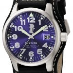 Invicta I-Force Quartz Watch – Stainless Steel case with Black tone Leather band – Model 6104