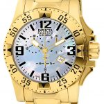 Invicta Reserve Excursion Quartz Watch – Gold case with Gold tone Stainless Steel band – Model 6257