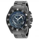 Invicta Excursion Quartz Watch – Black case with Black tone Stainless Steel band – Model 6474