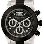 Invicta Speedway Quartz Watch – Black, Stainless Steel case with Steel, Black tone Stainless Steel band – Model 6934