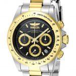 Invicta Signature Quartz Watch – Gold, Stainless Steel case with Steel, Gold tone Stainless Steel band – Model 7028