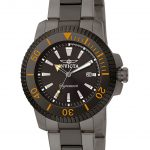 Invicta Signature Quartz Watch – Black case with Black tone Stainless Steel band – Model 7288