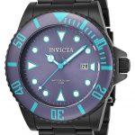 Invicta Pro Diver Men's Quartz 44mm Black Case Purple Dial – Model 90297