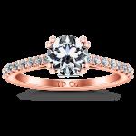 Pave Diamond Engagement Ring Legacy 14K Rose Gold