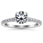 Round Diamond Pave Engagement Ring Legacy 14K White Gold