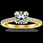 Pave Diamond EngagementRing Legacy 14K Yellow Gold
