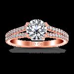 Pave Diamond Engagement Ring Dream 14K Rose Gold