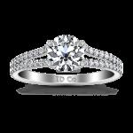 Round Diamond Pave Engagement Ring Dream 14K White Gold