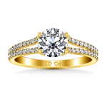 Pave Diamond EngagementRing Dream 14K Yellow Gold
