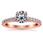 Pave Diamond Engagement Ring Harmoney 14K Rose Gold