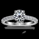 Round Diamond Pave Engagement Ring Harmoney 14K White Gold