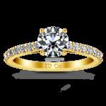 Pave Diamond EngagementRing Harmoney 14K Yellow Gold