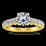 Pave Diamond EngagementRing Grande 14K Yellow Gold