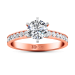 Pave Diamond Engagement Ring Yvonne 14K Rose Gold