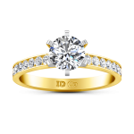 Pave Diamond EngagementRing Yvonne 14K Yellow Gold