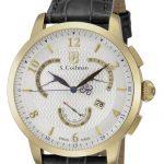 S. Coifman Quartz Watch – Gold case with Black tone Leather band – Model SC0230