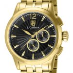 S. Coifman Swiss Movement Quartz Watch – Gold case with Gold tone Stainless Steel band – Model SC0270