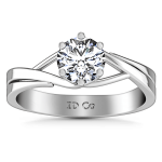 Round Diamond Solitaire Engagement Ring Wisteria 14K White Gold