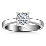 Round Diamond Solitaire Engagement Ring Icon 14K White Gold