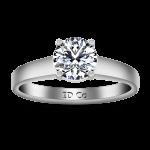 Round Diamond Solitaire Engagement Ring Valse 14K White Gold