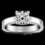 Round Diamond Solitaire Engagement Ring Amira 14K White Gold