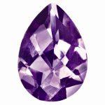 Loose Amethyst Gemstone 9x6mm Pear Checkerboard AAA Quality