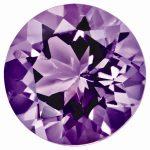 Loose Amethyst Gemstone 5mm Round AA Quality